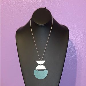 Universal Thread Silver & Turquoise Necklace